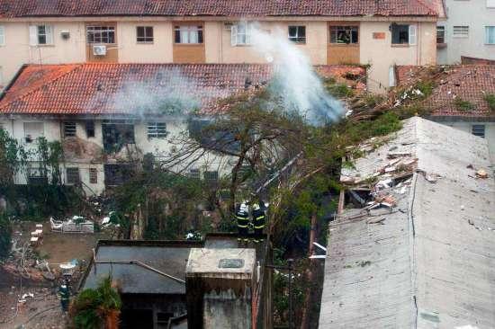 A aeronave que conduzia Eduardo Campos caiu em Santos, na Baixada Santista, em 2014